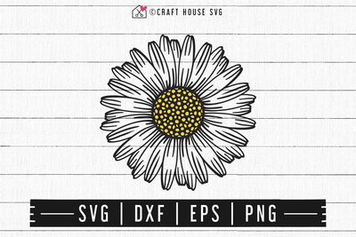 FREE Daisy SVG | FB104 Craft House SVG - SVG files for Cricut and Silhouette