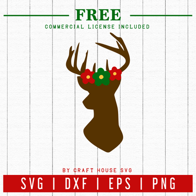 FREE | Deer SVG | FB58 Craft House SVG - SVG files for Cricut and Silhouette