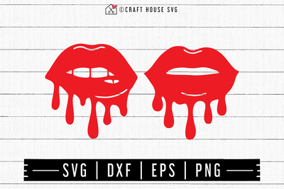 FREE Dripping lips SVG | FB133 Craft House SVG - SVG files for Cricut and Silhouette