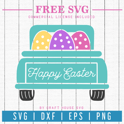 Free Easter Egg Truck SVG | FB65 Craft House SVG - SVG files for Cricut and Silhouette
