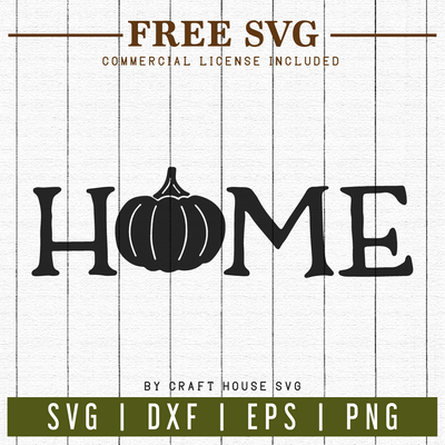 FREE | Fall Home Sign SVG | FB4 Craft House SVG - SVG files for Cricut and Silhouette