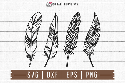 FREE Feather SVG | FB101 Craft House SVG - SVG files for Cricut and Silhouette