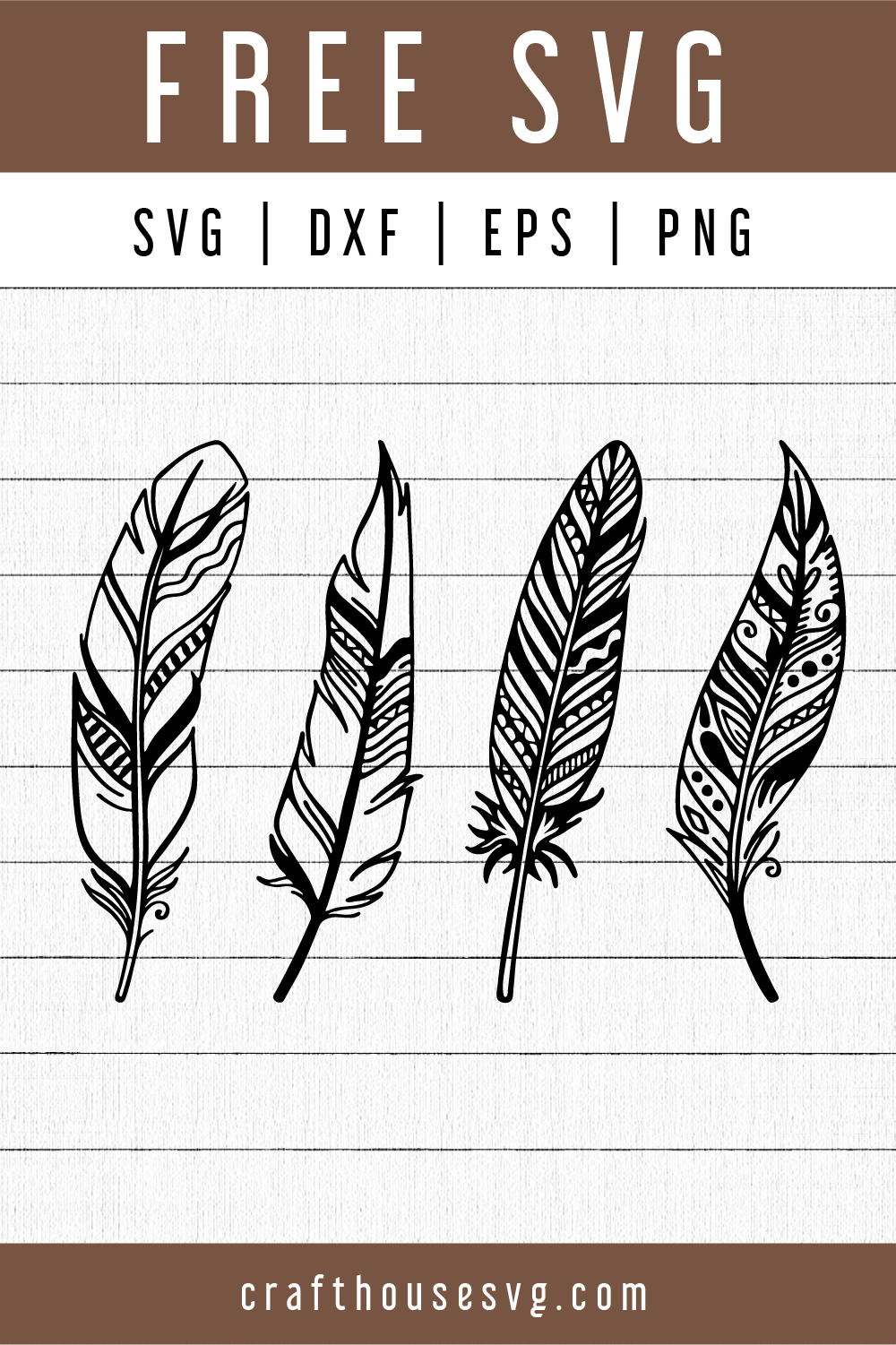 Free Feather Svg Fb101 Craft House Svg