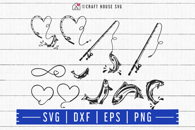 FREE Fishing SVG | FB96 Craft House SVG - SVG files for Cricut and Silhouette