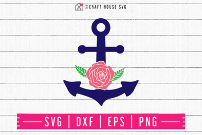 FREE Floral anchor SVG | FB112 Craft House SVG - SVG files for Cricut and Silhouette