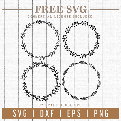 Free Floral wreaths SVG | FB68 Craft House SVG - SVG files for Cricut and Silhouette