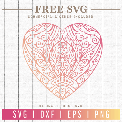 Free Heart Mandala SVG | FB79 Craft House SVG - SVG files for Cricut and Silhouette