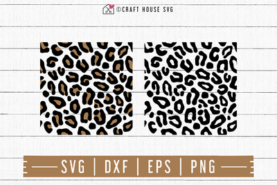 FREE Leopard Print SVG | FB108 Craft House SVG - SVG files for Cricut and Silhouette