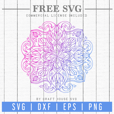 Free Mandala SVG | FB78 Craft House SVG - SVG files for Cricut and Silhouette