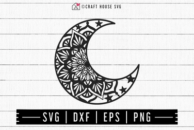 FREE Moon Mandala SVG | FB106 Craft House SVG - SVG files for Cricut and Silhouette