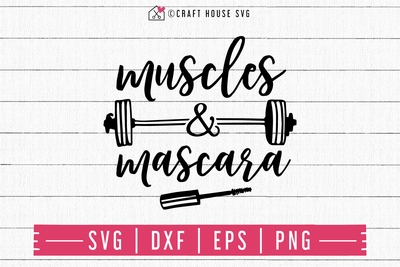 FREE Muscles and mascara SVG | FB124 Craft House SVG - SVG files for Cricut and Silhouette