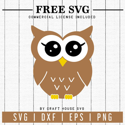 Free Owl SVG | FB60 Craft House SVG - SVG files for Cricut and Silhouette