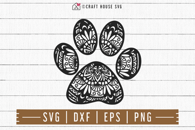 FREE Paw Print Mandala SVG | FB107 Craft House SVG - SVG files for Cricut and Silhouette