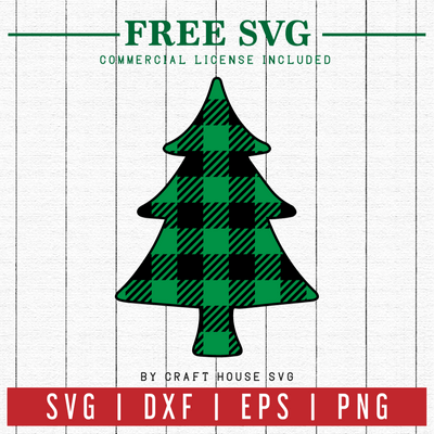 FREE | Plaid Christmas Tree SVG | FB9 Craft House SVG - SVG files for Cricut and Silhouette
