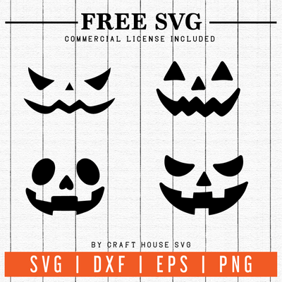 FREE | Pumpkin Faces SVG | FB6 Craft House SVG - SVG files for Cricut and Silhouette