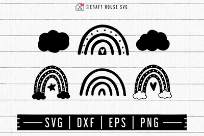 FREE Scandinavian Rainbow SVG | FB132 Craft House SVG - SVG files for Cricut and Silhouette