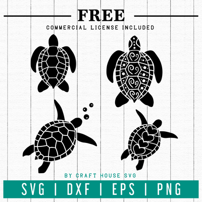 FREE | Sea turtles SVG | FB27 Craft House SVG - SVG files for Cricut and Silhouette