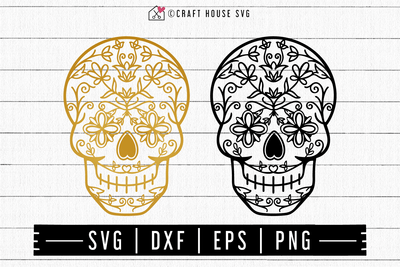 FREE Skull Mandala SVG | FB121 Craft House SVG - SVG files for Cricut and Silhouette