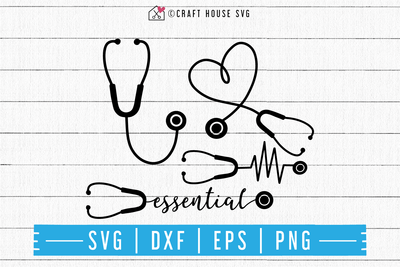 FREE Stethoscope SVG | FB90 Craft House SVG - SVG files for Cricut and Silhouette