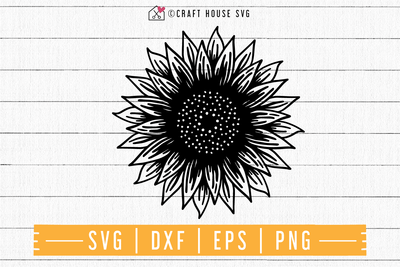 FREE Sunflower SVG | FB100 Craft House SVG - SVG files for Cricut and Silhouette