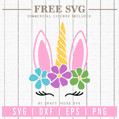 Free Unicorn Bunny SVG | FB77 Craft House SVG - SVG files for Cricut and Silhouette