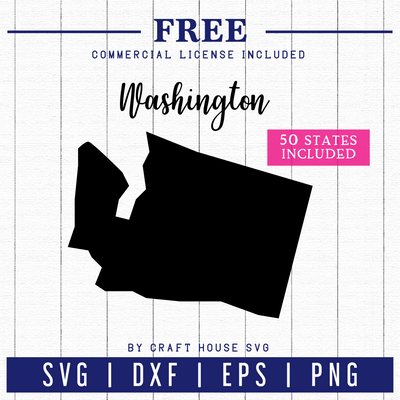 FREE USA 50 States SVG | FB52 Craft House SVG - SVG files for Cricut and Silhouette