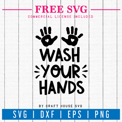 Free Wash your hands sign SVG | FB64 Craft House SVG - SVG files for Cricut and Silhouette