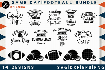 Game Day Football SVG bundle - M11 Craft House SVG - SVG files for Cricut and Silhouette
