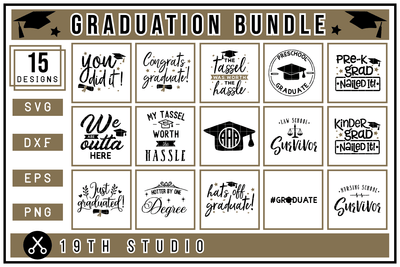 Graduation SVG Bundle - M24 Craft House SVG - SVG files for Cricut and Silhouette