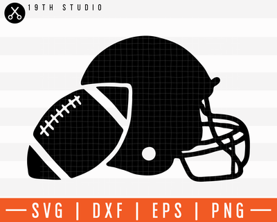 Graphic Football And Helmet SVG | M11F2 Craft House SVG - SVG files for Cricut and Silhouette