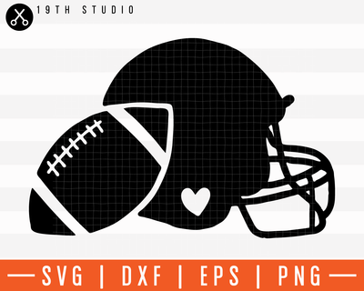 Graphic Football And Helmet V2 SVG | M11F3 Craft House SVG - SVG files for Cricut and Silhouette