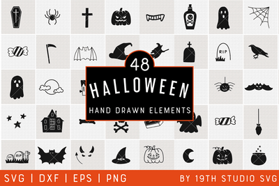Halloween Illustration Bundle | VB38 Craft House SVG - SVG files for Cricut and Silhouette