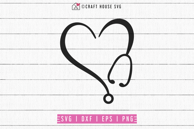 Heart Stethoscope SVG | M69F Craft House SVG - SVG files for Cricut and Silhouette