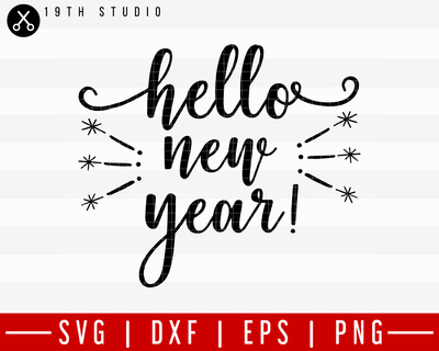 Hello New Year SVG | M21F23 Craft House SVG - SVG files for Cricut and Silhouette