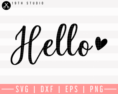 Hello SVG | M26F7 Craft House SVG - SVG files for Cricut and Silhouette