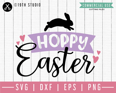 Hoppy Easter SVG | M46F | An Easter SVG cut file Craft House SVG - SVG files for Cricut and Silhouette