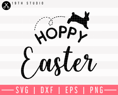 Hoppy Easter SVG | M9F8 Craft House SVG - SVG files for Cricut and Silhouette