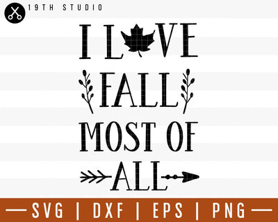 I love fall most of all SVG | M29F8 Craft House SVG - SVG files for Cricut and Silhouette