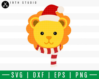 Lion Chritsmas SVG | M42F6 Craft House SVG - SVG files for Cricut and Silhouette