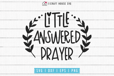 Little answered prayer SVG | M53F Craft House SVG - SVG files for Cricut and Silhouette