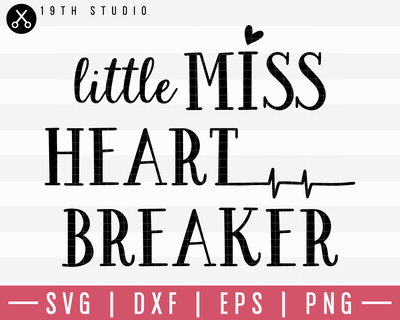 Little Miss Heart Breaker SVG | M19F22 Craft House SVG - SVG files for Cricut and Silhouette