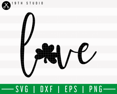 Love Clover SVG | M18F13 Craft House SVG - SVG files for Cricut and Silhouette