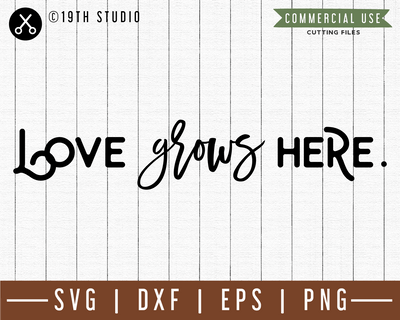 Love grows here SVG |M49F| A Doormat SVG file Craft House SVG - SVG files for Cricut and Silhouette