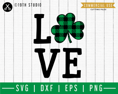 Love SVG | A St. Patrick's Day SVG cut file M45F Craft House SVG - SVG files for Cricut and Silhouette