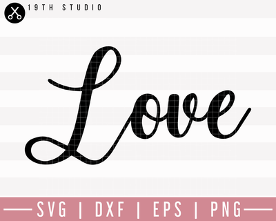 Love SVG | M27F16 Craft House SVG - SVG files for Cricut and Silhouette