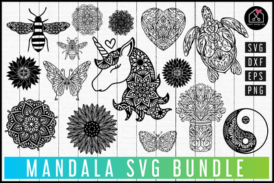 Mandala SVG Bundle | MB74 Craft House SVG - SVG files for Cricut and Silhouette