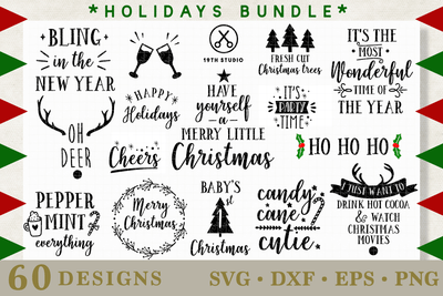 Mega Holidays SVG Bundle - M21 Craft House SVG - SVG files for Cricut and Silhouette