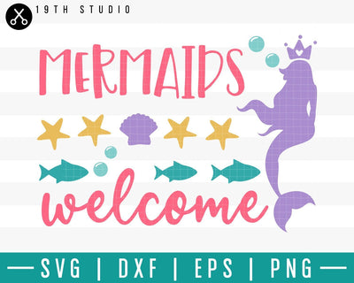 Mermaids welcome SVG | M33F9 Craft House SVG - SVG files for Cricut and Silhouette