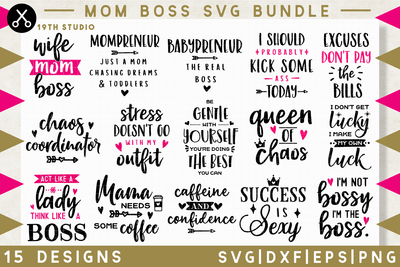 Mom boss SVG bundle - M34 Craft House SVG - SVG files for Cricut and Silhouette