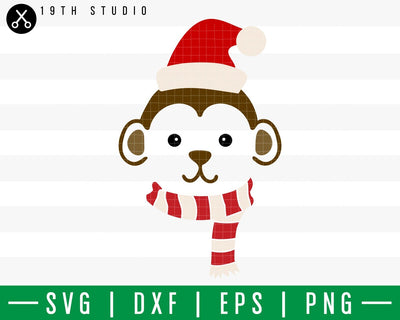 Monkey Chritsmas SVG | M42F7 Craft House SVG - SVG files for Cricut and Silhouette